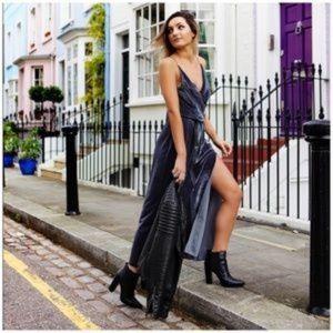 NWT Free People Velvet High Split Maxi Dress